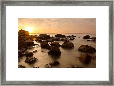 False Bay Sunrise Framed Print by Aaron S Bedell