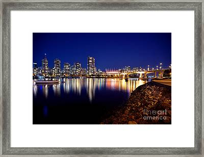 False Creek After Sunset Framed Print by Terry Elniski