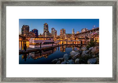 False Creek From Granville Island Framed Print by Alexis Birkill