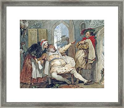 Falstaff Bardolph And Dame Quickly Framed Print by Francis Phillip Stephanoff