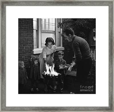 Family Barbeque Framed Print by Suzanne Szasz