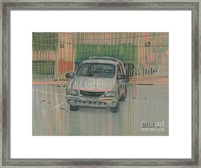 Family Car Framed Print by Donald Maier