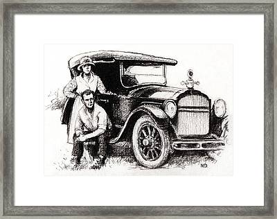 Family Car Framed Print by Natasha Denger