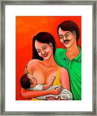 Family Framed Print by Cyril Maza