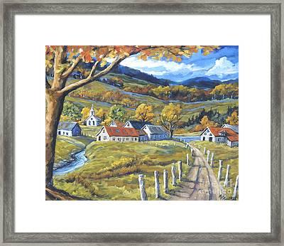 Family Farms By Prankearts Framed Print by Richard T Pranke