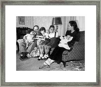 Family Of Charles Drew Framed Print by National Library Of Medicine