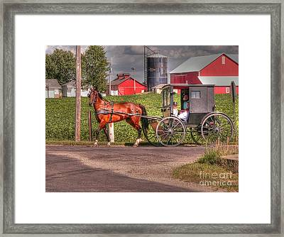 Family Outing Framed Print by David Bearden