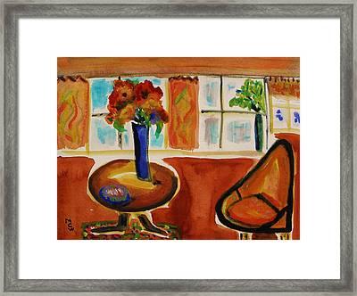 Family Room Corner Framed Print by Mary Carol Williams