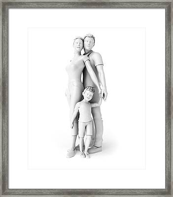 Family Framed Print by Sebastian Kaulitzki