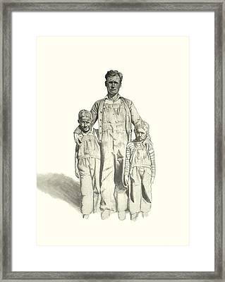 Family Framed Print by Todd Spaur