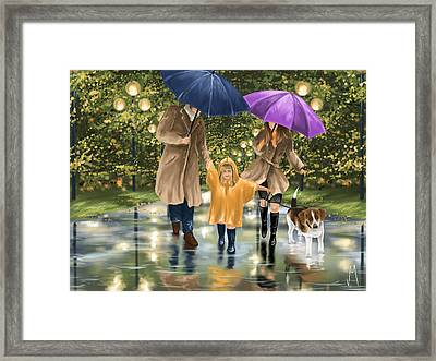 Family Framed Print by Veronica Minozzi