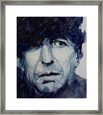 Famous Blue Raincoat Framed Print by Paul Lovering