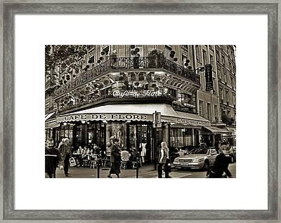 Famous Cafe De Flore - Paris Framed Print by Carlos Alkmin