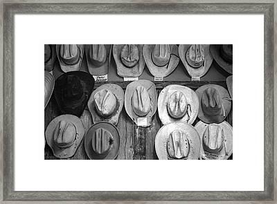 Famous Hats Framed Print by Britt Runyon