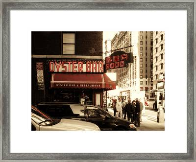 Famous Oyster Bar Framed Print by Jon Woodhams