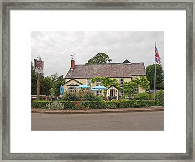 Famous Pub -the Cricketers Clavering Framed Print by Gill Billington