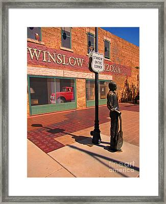 Famous Sculpture Of Eagles Song Framed Print by John Malone