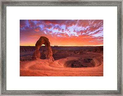 Famous Sunset Framed Print by Kadek Susanto