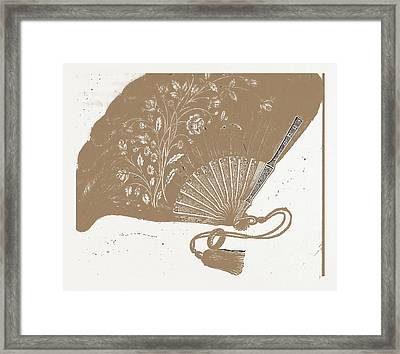 Fan For Evening Dress, Needlework Framed Print by Litz Collection