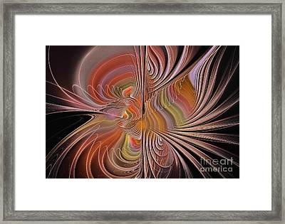 Fan Of Color Framed Print by Deborah Benoit