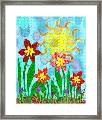 Fanciful Flowers Framed Print by Shawna Rowe