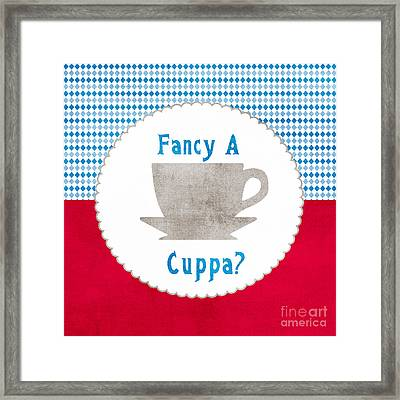 Fancy A Cup Framed Print by Linda Woods