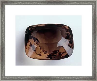 Fancy-cut Brown Quartz Framed Print by Dorling Kindersley/uig