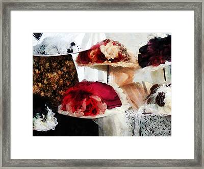 Fancy Hats Framed Print by Susan Savad