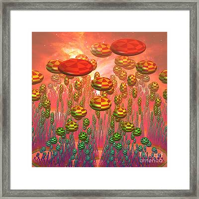 Fantasy Alien Garden Framed Print by Gaspar Avila