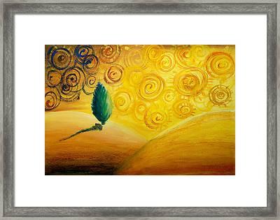 Fantasy Art - Lonely Tree Framed Print by Nirdesha Munasinghe