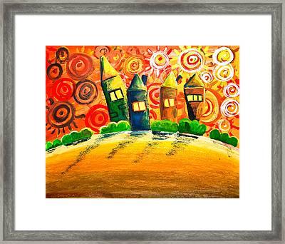 Fantasy Art - The Village Festival Framed Print by Nirdesha Munasinghe