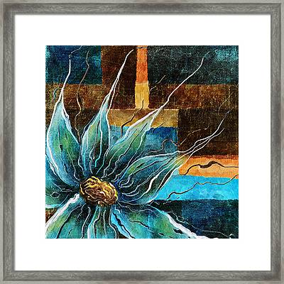Fantasy Floral Abstract Framed Print by Brenda Bryant