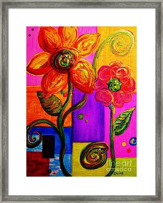 Fantasy Flowers Framed Print by Eloise Schneider