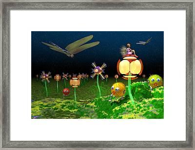 Fantasy Garden Framed Print by Carol and Mike Werner