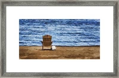 Fantasy Getaway Framed Print by Joan Carroll