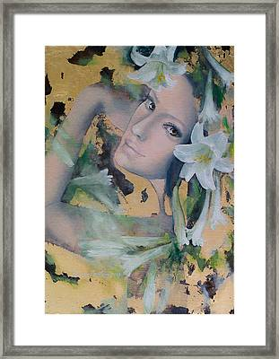 Fantasy Lilies Framed Print by Dorina  Costras