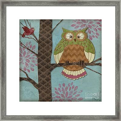 Fantasy Owls I Framed Print by Paul Brent