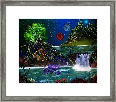 Fantasy Planets Framed Print by Michael Rucker