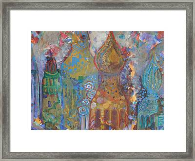 Fantasy Square Framed Print by Norma Malerich