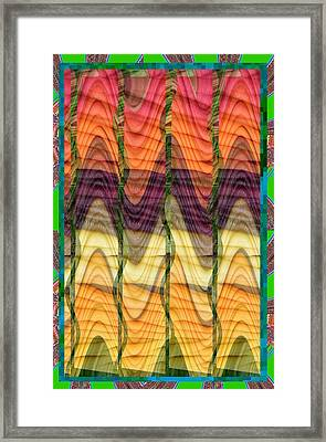Fantasy Waves Pattern 3d Plateau Art Made Of Vegitable Colors Framed Print by Navin Joshi