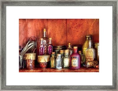 Fantasy - Wizard's Ingredients Framed Print by Mike Savad
