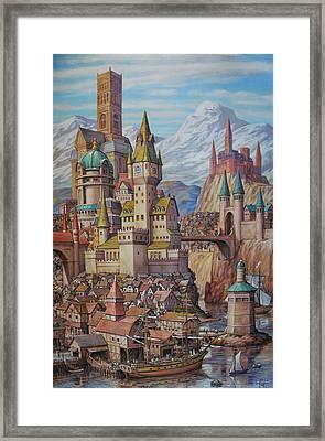 Fantasy World Framed Print by Henry David Potwin