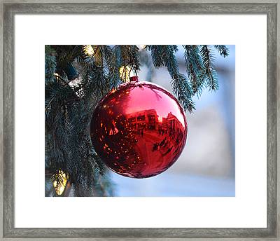 Faneuil Hall Christmas Tree Ornament Framed Print by Toby McGuire