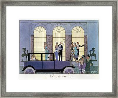 Farewell Framed Print by Georges Barbier