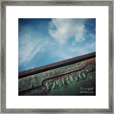 Fargo Framed Print by Priska Wettstein