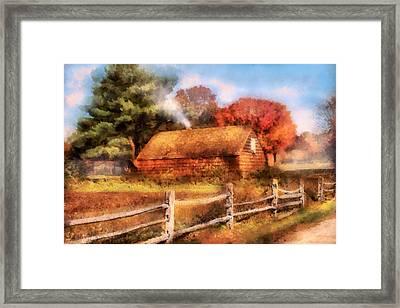 Farm - Barn - Our Cabin Framed Print by Mike Savad