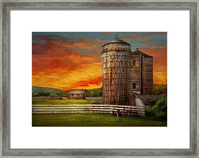 Farm - Barn - Welcome To The Farm  Framed Print by Mike Savad