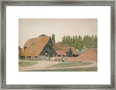 Farm Buildings, Dorchester, Oxfordshire Framed Print by George Price Boyce