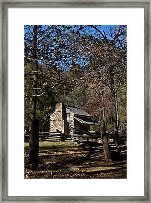 Farm Cabin Cades Cove Tennessee Framed Print by Douglas Barnett
