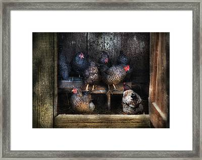 Farm - Chicken - The Hen House Framed Print by Mike Savad